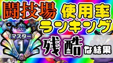 【#ドラクエタクト】闘技場モンスター使用率ランキング マスター帯!!残酷な結果に・・・つらい・・・
