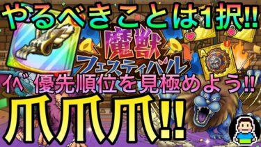 【ドラクエタクト】魔獣フェスティバル周回優先順位決定版!!ドロップモンスターは無視でOK!?理由は明確!!まずは全てを錬金に注ごう!!